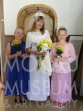 P1070212 : Dorothy Lowry, Bride and flowergirls, Lowry twins Charlotte and Lily