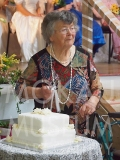 PA128764 : Mavis Petersen about to cut the cake