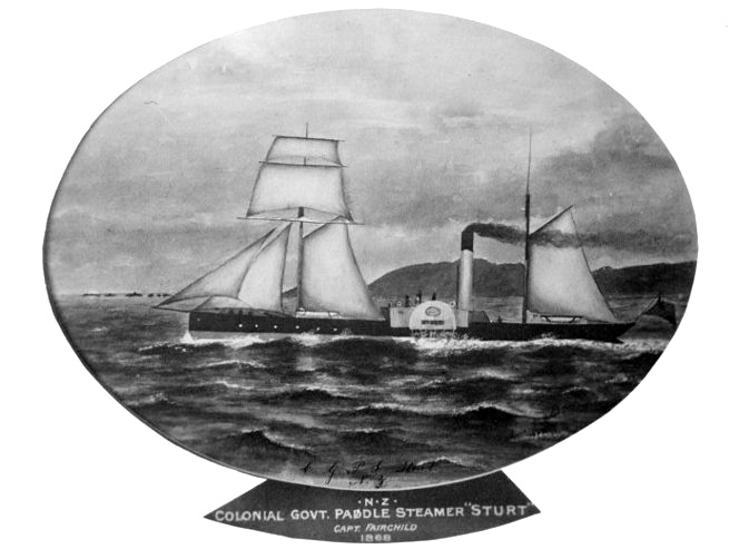 Government paddle steamer Sturt which fired the cannonball.