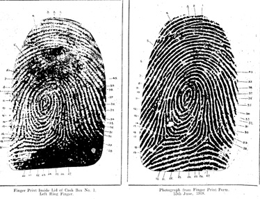 fingerprints of Dennis Gunn